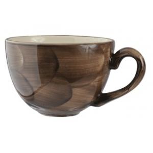 Чашка чайная 450мл D 12см h 8см Peppercorn, цвет коричнево-бежеввый, фарфор