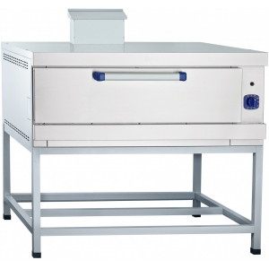 Печь для хлеба газовая подовая, 1 камера 1035х770х250мм, электромех.упр., под сталь, лицо нерж.сталь, стенд открытый, пьезорозжиг, газконтроль