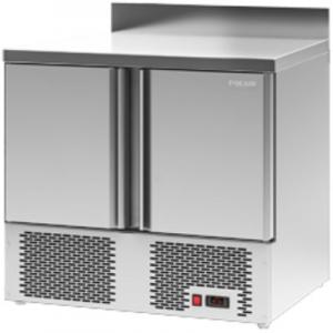 Стол холодильный, GN1/1, L0.90м, борт H60мм, 2 двери глухие, ножки, -2/+10С, нерж.сталь, дин.охл., арегат нижний
