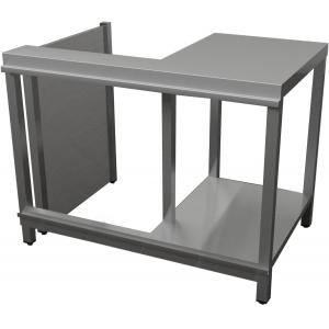 Прилавок кассовый, L1.10м, правый, нерж.сталь, открытый, 1 дверь распашная, без отделки