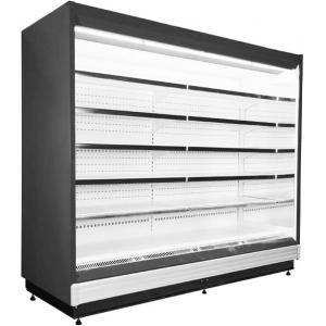 Стеллаж холодильный, пристенный, L2.50м, 5 полок, +1/+10С, дин.охл., черный, без боковин, под вынос.холод, ТРВ, соляноидный вентиль