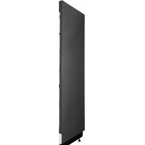 Панель боковая правая для холодильного стеллажа серии Манго, зеркальная, черная RAL9005