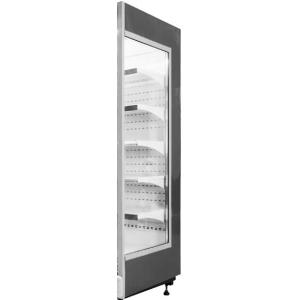 Панель боковая правая для холодильного стеллажа серии Манго, стеклопакет, черная RAL9005