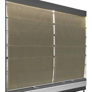 Шторка ночная для стеллажа холодильного серии Манго L2.50м, комплект 2шт.