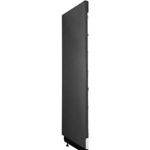 Панель боковая левая для холодильного стеллажа серии Манго, зеркальная, черная RAL9005