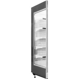Панель боковая левая для холодильного стеллажа серии Манго, стеклопакет, черная RAL9005