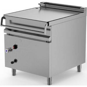 Сковорода газовая опрокидываемая, 205л, автоматическое опрокидывание, нерж.сталь, прямоугольная, нагрев прямой, электроподжиг