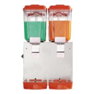 Сокоохладитель, 2 ванны по 16л, нерж.сталь, крышка и накопитель оранжевого цвета, система «фонтан»