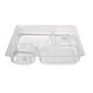 (100шт.) - пластиковый поднос для Nacho на два соуса SL 1199 (Ограниченно годен)