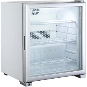 Шкаф морозильный,   99л, 1 дверь стекло, 3 полки, ножки, -13/-22С, дин.охл., обогрев стекла, R134a