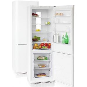 Шкаф комбинированный бытовой, 340л, 2 двери глухие, 4 полки, ножки, 0/+8С и -18С, белый, нижняя морозилка, R600а, класс А, Full No Frost