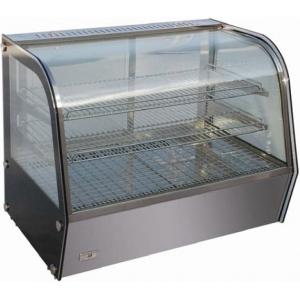 Витрина тепловая настольная, горизонтальная, L0.68м, 2 полки, +30/+90С, нерж.сталь, стекло фронтальное гнутое, подсветка, увлажнение
