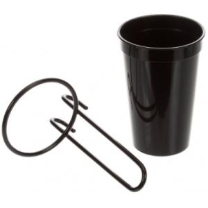 Диспенсер для соломинок, для C8503* и C8504*, 1 стакан чёрный, навесное крепление