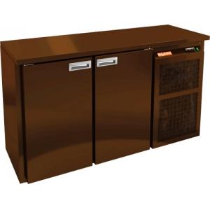 Стол морозильный, L1.39м, без борта, 2 двери глухие, ножки низкие, -18/-10С, пластификат коричневый, дин.охл., агрегат справа, увеличенный объем
