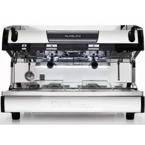Кофемашина-полуавтомат, 2 группы (выс.), бойлер 14л, черная матовая, 220V, LED