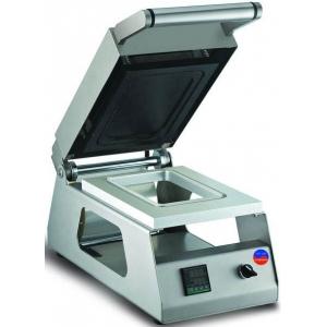 Машина для термоупаковки лотков, настольная, ширина пленки 180мм, электронное управление, обрезка пленки по контуру, 1 матрица для лотков 187х137мм