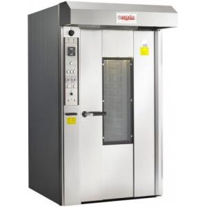 Печь электрическая конвекционно-ротационная, 1 тележка 20/10EN, управление электромех., корпус нерж.сталь, увлажнение, зонт, 1 скорость вент.