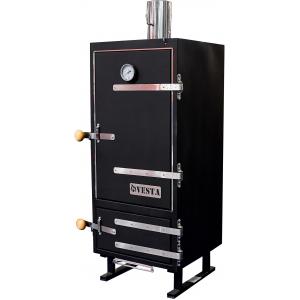 Печь-коптильня угольная напольная, 1 камера 7х(326х383мм), нерж.сталь