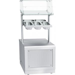 Прилавок для столовых приборов, подносов и хлеба, L0.67м, нерж.сталь, 5GN1/1-100, фасад нерж. съёмный