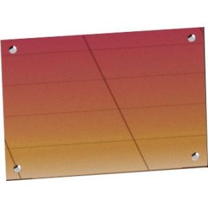 Панель фронтальная декоративная для ЭМК-70Х линии раздачи Hot-Line, L1.12м, красное золото
