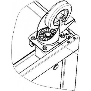 Колесо для линии раздачи Hot-Line, комплект 4шт. (2 фиксированных и 2 поворотных)
