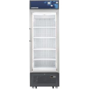 Шкаф морозильный,  461л, 1 дверь стекло, 5 полок, колеса+ножки, -10/-25С, дин.охл., белый, канапе