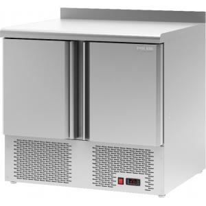 Стол холодильный, L0.90м, борт H60, 2 двери глухие, ножки, -2/+10С, нерж.сталь, дин.охл., арегат нижний