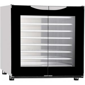 Шкаф расстоечный,  8х(400х600), 2 двери распашные стекло, +30/+85С, нерж.сталь, 220V, ножки, электромех.упр., увлажнение, эргон.ручки