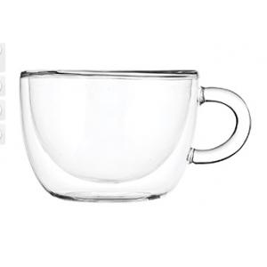 Чашка 300 мл с двойными стенками, термост.стекло