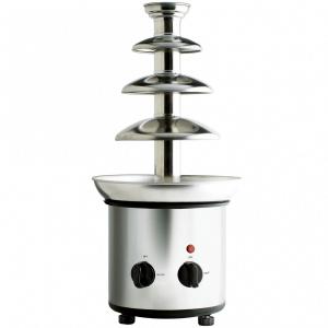 Фонтан для шоколада, 4 яруса, подогрев, вместимость до 1 кг шоколада, корпус нерж.сталь
