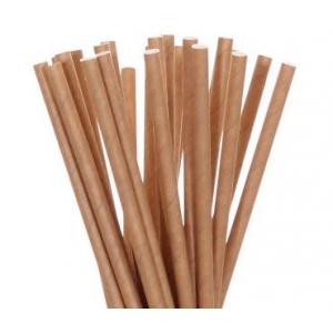 Трубочки для напитков бумажные D 8мм L 230мм крафт