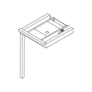 Стол входной для машин посудомоечных RX, L0.70м, без борта, без полки, 1 ножка, угловой, система передвижения корзин