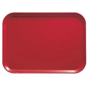 Поднос L 41см w 30см прямоугольный, красный полипропилен