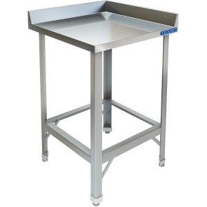 Стол производственный,  600х600х850мм, 2 борта, открытый, обвязка с 4-х сторон краш., разборный, каркас уголок краш., столеш.нерж.304, угловой.