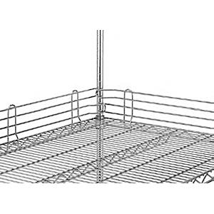 Бортик решетчатый для полки 1066мм, h100мм, сталь с покрытием хромоникелевым, для сухих помещений