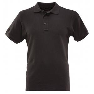 Футболка ПОЛО мужская короткие рукава черная, р-р XXXL (56)