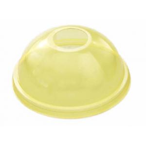 Крышка купольная с отверстием D 95мм ПЭТ жёлтый