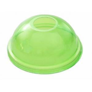 Крышка купольная с отверстием D 95мм ПЭТ зелёный