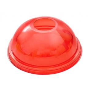 Крышка купольная с отверстием D 95мм ПЭТ красный