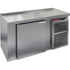 Cтол холодильный для кег и розлива пива, L1.51м, без борта, 1 дверь глухая, ножки, 405л, -2/+10С, нерж.сталь, дин.охл., агрегат правый