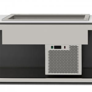Ванна холодильная встраиваемая, L1.09м, 3GN1/1-150, -8/+5С, стат.охл., нерж.сталь выносной пульт упр.