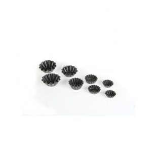 Форма для выпечки хлеба L 16см w 8см h 7,5см 5 секций с ручками, алюминий