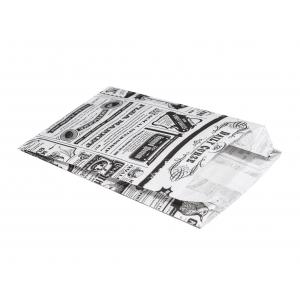 Пакет бумажный 110х175х50мм Мagic News белый