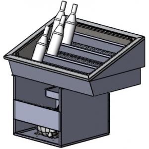 Витрина холодильная встраиваемая, горизонтальная, для напитков в ледяной шубе, L0.62м, 3 уровня, -1/+10С, нерж. сталь