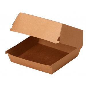 Коробка для гамбургера 120x120x70мм Крафт двухсторонний