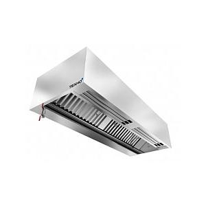 Зонт приточно-вытяжной пристенный, 1200х700х400мм, лаб.фильтры, коробчатый, нерж.сталь, без подсветки, без отверстия