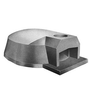 Печь дровяная, 1 камера, под 1.94м2 камень сегментированный, термометр, купол камень, дверь сталь
