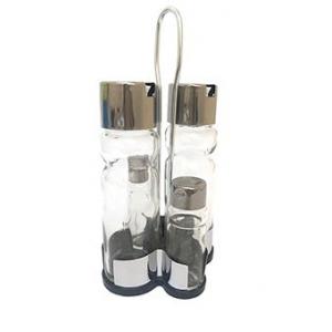 Набор для специй (4 предмета) на подставке, стекло/нерж.сталь