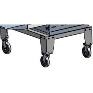 Подставка для печи для пиццы конвейерной ПЭК-400, 833x626x356мм, без борта, открытая, нерж.сталь, колеса, для 3 модулей