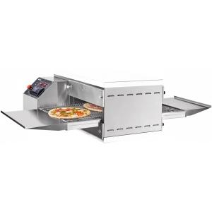 Печь для пиццы электрическая, конвейерная, 1 камера 509х489х88мм, электронное управление, нерж.сталь, без крыши, без основания